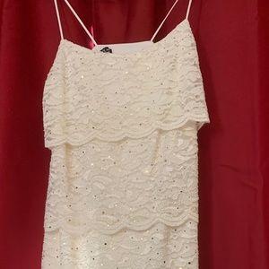 White sparkle dress